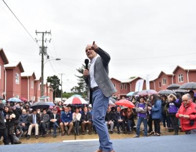 Inauguración Villa Circunvalación Sur en Valdivia